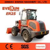 cargador de la granja de la marca de fábrica de 2.5ton Everun pequeño con inclinar la cabina