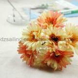 Flor artificial del ramo del Gerbera de 7 pistas usada para la decoración (SF16183A)
