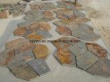 Natürliche beige Schiefer-Steinfliese für Bodenbelag