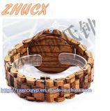 Relógio de madeira Top-Quality Cx-Ww01 do metal do relógio