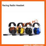 ruido dual del manguito del oído de la motocicleta que cancela los auriculares de radio de dos vías del casco del receptor de cabeza