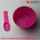 Contenitore su ordinazione del gelato di grande capienza con il cucchiaio