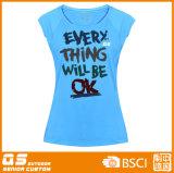 Veste de mode pour femme T-shirt imprimé en poitrine