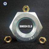 DIN934 Class8 Sechskantmutter gelb/Weiß verzinkt