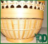 Ровная Bamboo сотка корзина хранения Wicker с ручкой формы сердца