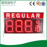 Teken van de Prijs van het rode LEIDENE van de Kleur het Regelmatige Cijfer van het Gas