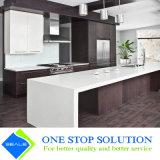 Gabinetes de cozinha cinzentos da mobília modular do revestimento do folheado (ZY 1031)