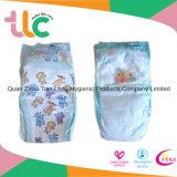優れた高品質の柔らかい乾燥した綿毛のパルプの布の卸売の使い捨て可能な赤ん坊のおむつ
