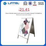 Doppeltes versah Fahnen-Standplatz-faltender Plakat-Vorstand mit Seiten (LT-10-SR-32-A)