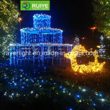 Outdoor de Natal LED decorativa Fountain Luz
