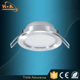 Il calore caldo di vendita dissipa il bianco muto LED giù che si illumina