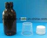 Bernsteinfarbige Flaschen, Glasflaschen mit Überwurfmutter