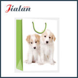 New 2016 Design- Dog Picture Shopping Sacola de papel de presente de transportadora