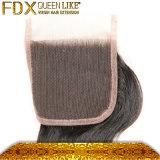 Può essere la chiusura superiore di seta non trattata rivestita di ferro del merletto dei capelli umani