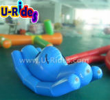 Totter inflável da água da cor de Bule para esportes de água