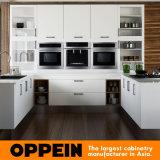 インドネシアの現代白Uの形の食器棚(OP15-M06)