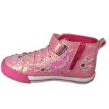 Estilo mais novo Hot Design Wholesale Kids Fuchsia Canvas Shoes