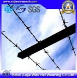 Высокий растяжимый гальванизированный провод утюга PVC Coated колючий для обеспеченности