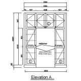 Het Project pvc van Oppein en het Meubilair van de Keuken van de Lak (OP14-PVC06)