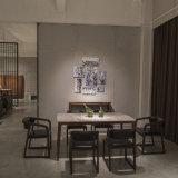 ホーム(MDT-001)のための純木フレームとセットされる大理石のダイニングテーブル