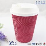 Impresión Flexo Kraft Ripple pared café taza de papel