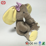 Luxuoso enorme Soft de Elephant Sitting Animal Toy com Baby Gift