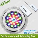 lumière montée par surface de piscine de 54W DEL, DEL IP68 sous-marin extérieur, fixée au mur.