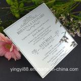 Encargo de acrílico grabada invitaciones de la boda