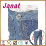 De buitensporige Knopen van de Jeans van de Legering van het Ontwerp Denim Behandelde