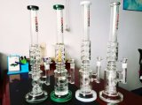 "Hb K42 23 "" Tire Perc 3 Ice Notches Shape Glass Smoking Water Pipe에 Ring에 타이어"