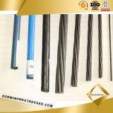 Costa de alta elasticidade do aço de 9.53mm com fio 1X7