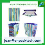 A annoncé le sac de papier vertical de Strupe de diverse mode de couleur