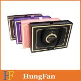 Rectángulo de papel de empaquetado del almacenaje del estilo de la manera con la maneta de la cinta