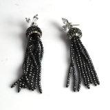 Lady Party를 위한 형식 Tassel CZ Pendant Earrings Accessory Bijoux
