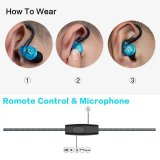 Hot Selling Sports Headphones fone de ouvido impermeável com microfone de controle remoto