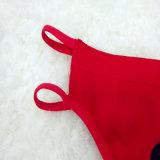 Heiße Verkaufs-reizvolle Unterwäsche-rote Dame Thong Lingerie