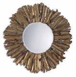 Specchio incorniciato antico fatto a mano decorativo della parete del foglio di oro di vendite calde