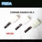 HRC60 Altin Coaed Eckradius-Bit-Qualität
