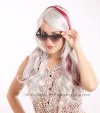 Heiße Verkäufe Cosplay Anime-Perücke-lockiges Haar-synthetische Haar-Perücke