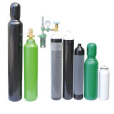 150bar /200barの高圧継ぎ目が無い鋼鉄酸素窒素の水素のアルゴンのヘリウムの二酸化炭素のガスポンプCNGシリンダー