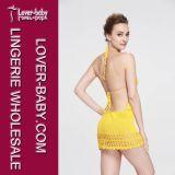 水着浜の服手のかぎ針編みの水着(L38335)