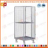 Contenitore d'acciaio piegante del rullo di obbligazione del metallo della gabbia di memoria del magazzino (Zhra34)