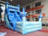 凍結する城膨脹可能な水スライド