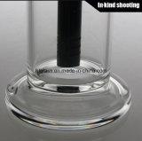 2016 nuevos vidrios negros de Sheldon - hornilla de petróleo de cristal de Piple de las plataformas petroleras de los tubos que fuman de los aparejos del LENGUADO del pelele del Showerhead del tazón de fuente del pelele W Derby