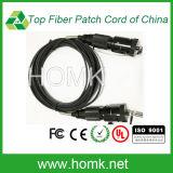 Connecteur magnétique hermaphroditique pour câble tactique à fibre optique