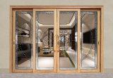 Puerta interior/exterior del desplazamiento de Aliuminium con el vidrio doble (JFS-12021)