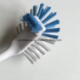 Пластичная щетка чистки тарелки с ручкой