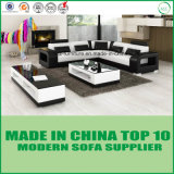 China-Wohnzimmer-echtes Leder-Sofa-Bett