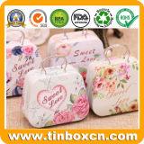 Hallo Miezekatze-Mittagessen-Metallkasten mit Griff für das Geschenk-Zinn-Verpacken