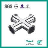 Accessori per tubi trasversali premuti uguali sanitari dell'acciaio inossidabile